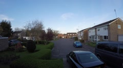 Getting dark on one of the streets of Colchester Stock Footage