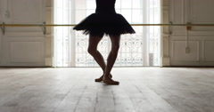 Ballet dancer performing a pirouette, slow motion - stock footage