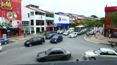 Traffic in Malacca Stock Footage