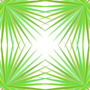 Symmetrical pattern with palm leaves on white background Stock Illustration