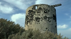 The ruins of the old windmill. - stock footage
