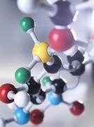 Molecular model - stock illustration