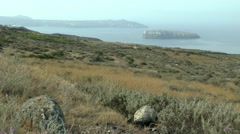 View of the strait between the islands. - stock footage