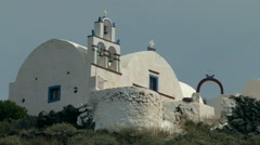 The monastery on the top of the mountain. Stock Footage