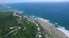 4K Aerial drone shot mexico akumal pan 360 Stock Footage