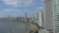Aerial View of Balneário Camboriú BC Beach North Side 001 Stock Footage