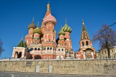 Moscow, Cathedral of Saint Basil. - stock photo