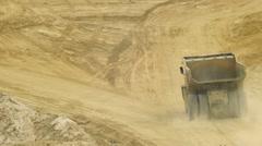 medium heavy dump truck - stock footage