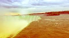 Aerial of Niagara Falls At Dawn Stock Footage