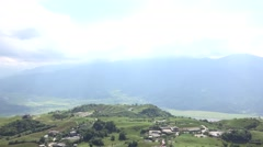 Mountains in Taitung City, Taiwan 4k Stock Footage