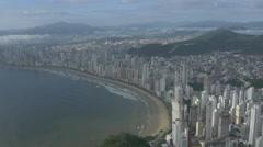 Aerial Image of Balneário Camboriú BC Beach North Side 014 Stock Footage