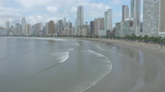 Aerial Image of Balneário Camboriú BC Beach North Side 011 Stock Footage