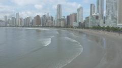 Aerial Image of Balneário Camboriú BC Beach North Side 011 Stock Footage