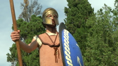 Greek Warrior - stock footage