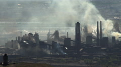 Environmental Pollution. Taymlaps Smoke in the Sky From a Large Plant. Stock Footage