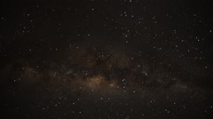 Star filled night sky - stock footage
