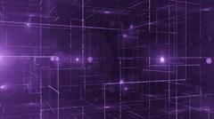 Digital data technology numbers backgorund LOOP rotating 360 violet Stock Footage
