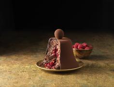 Chocolate mousse dessert Stock Photos