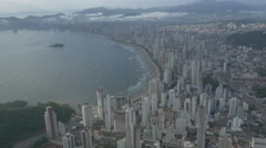 Aerial Image of Balneário Camboriú BC Beach North Side 009 Stock Footage