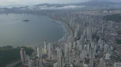 Aerial Image of Balneário Camboriú BC Beach North Side 009 Stock Footage