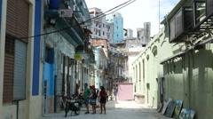 Havana Cuba San Miguel Back Streets Stock Footage