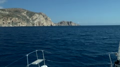 One of the Greek islands on the horizon. - stock footage