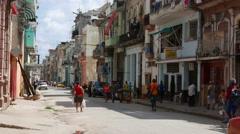 Havana Consulado Street Cuba Stock Footage