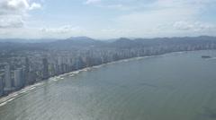 Aerial Image of Balneário Camboriú BC Beach South Side 007 Stock Footage