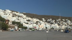 The small seaside town on the hillside. Stock Footage