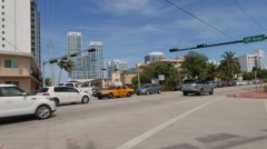 Traffic jam on 69 street in Miami  Stock Footage