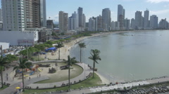 Aerial Image of Balneário Camboriú BC Beach North Side 005 Stock Footage