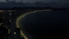 Aerial Image of Balneário Camboriú BC Beach at Night 005 Stock Footage