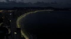 Aerial Image of Balneário Camboriú BC Beach at Night 005 Stock Footage