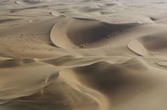 Aerial view of dunes, Namib Desert, Namibia Stock Photos