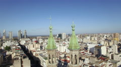 Old and new architecture of Buenos Aires, Argentina - stock footage