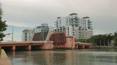 Bridge lift - Miami Beach Stock Footage