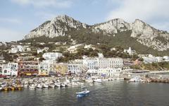 Port of Capri, Napoli, Campania, Italia - stock photo