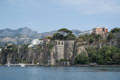 Cliffs, Sorrento, Napoli, Campania, Italia - stock photo