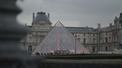 Bird taking flight near the Louvre, Paris, France - stock footage