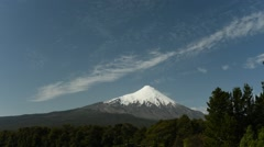 Scenic view of Osorno volcano in Chile Stock Footage