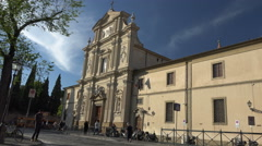 San Marco Church, Florence. Italy Stock Footage