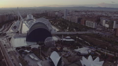 Aerial view of Valencia city skyline Stock Footage