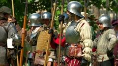 Renaissance Battle Army - stock footage