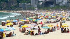 Ipanema Beach in Rio de Janeiro, Brazil - stock footage