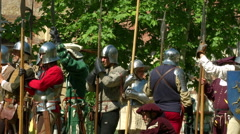 Renaissance Battle Army - stock footage