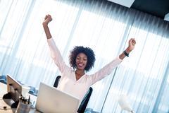 Businesswoman succeeding Stock Photos