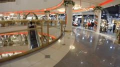 Shopping Mall Holiday Rush Timelapse Stock Footage