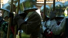 Renaissance Battle Army Stock Footage