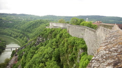 Ramparts of the Citadel of Besancon, Besancon, Doubs, Franche-Comte, France Stock Footage