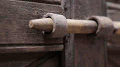 Close-up of bolt being unlocked Stock Footage